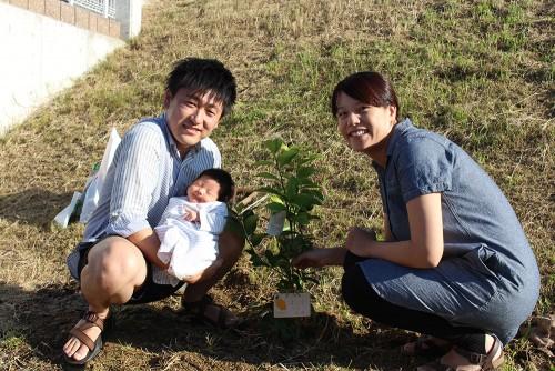 子どもの誕生の記念樹に