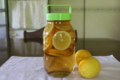 レモン酢の完成です