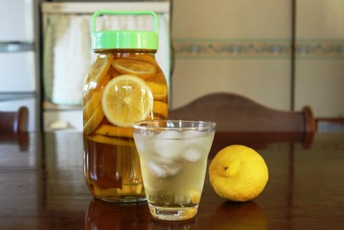 泉北レモン酢 炭酸で割りました