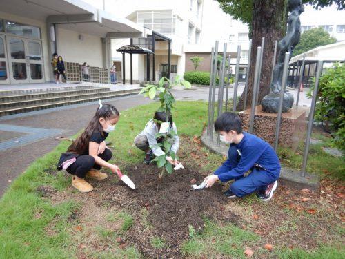 堺市立東百舌鳥小学校 レモン植樹祭